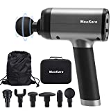 MaxKare Massage Gun with Percussion Massage for Athletes Deep Tissue Muscle Massager with 6 Interchangeable Heads and 5 Speeds Quietly Helps Relieve Sore Muscles and Stiffness