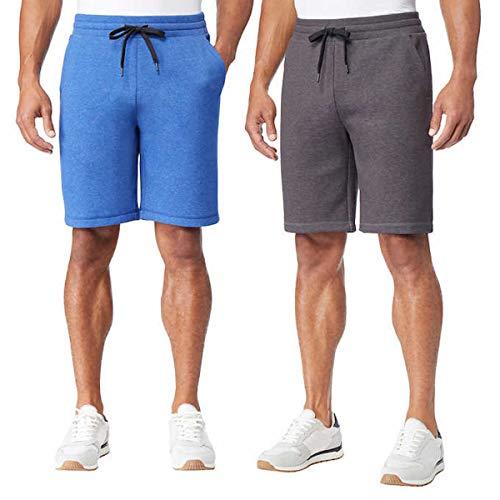 32 DEGREES Cool 2 Pack Men's Tech Shorts Gray & Blue Large