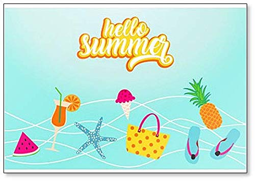 Hallo Summer Illustration Classic Koelkast Magneet