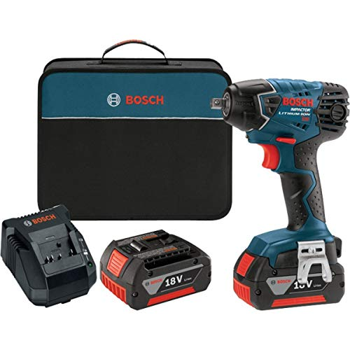 Bosch IWH181-01 18-Volt Lithium-Ion 3/8-Inch Square Drive Compact Impact Wrench Kit with 2...