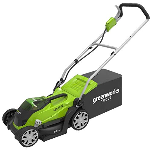 Greenworks Tondeuse à gazon sans fil sur batterie 35cm 40V Lithium-ion avec 2 batteries...