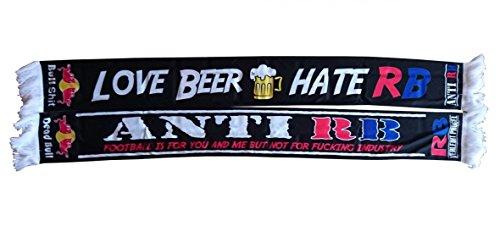 Anti RB FANSCHAL Fan SCHAL Fan Scarf - Love Beer - Hate RB SEIDENSCHAL