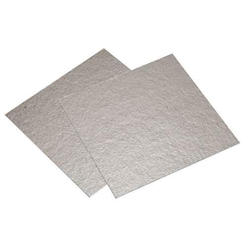 Mikrowelle Zubehoer - SODIAL(R)2 Stueck 12 x 12 cm Platten fuer Mica Mikrowellenherd Zubehoer