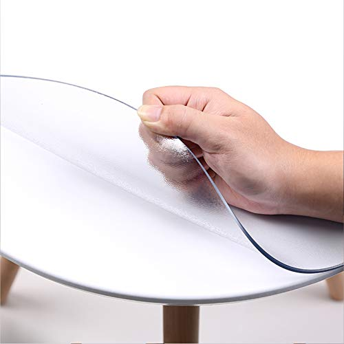 VISZC Transparent ecological PVC foil, table guard table film Tableguard Foil Tablecloth for hard floors Office chair chair mat B2.0mm-65cm/26in