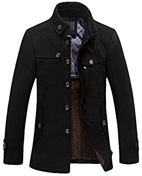 Youhan Men's Fitted Overcoat
