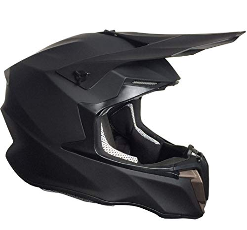 Crosshelm Motocross Enduro Helm Integralhelm Motorradhelm RALLOX 806 Größe S matt schwarz