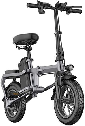 Bicicletas Eléctricas, Las bicicletas plegables eléctricos for adultos aleación de aluminio de 14 pulgadas Ciudad E-bici 48V con gran capacidad extraíble de iones de litio sin la cadena Ligera mini bi