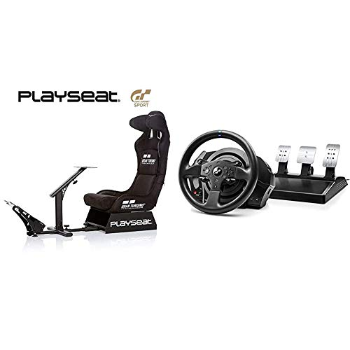Playseat Evolution M Gran Turismo & Thrustmaster T300 RS GT Edition (Lenkrad inkl. 3-Pedalset, Force Feedback, 270° - 1080°, Eco-System, PS4 / PS3 / PC)