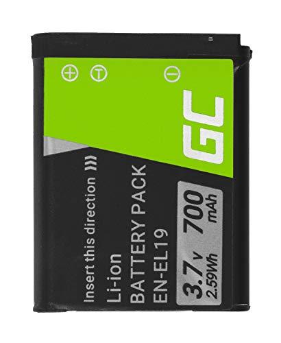 Green Cell® EN-EL19 ENEL19 Batería para Nikon Coolpix S100 S2500 S32 S3500 S4100 S5200 S6700 S6900 Cámara, Full Decoded (670mAh 7.4V)