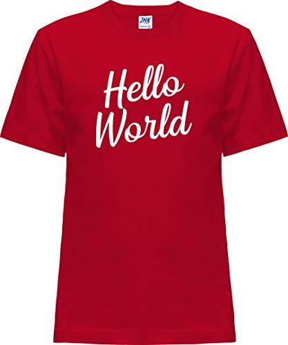 Kleckerliese Nicki T-shirt à manches courtes pour enfant Motif Hello World - Rouge - 0 ans