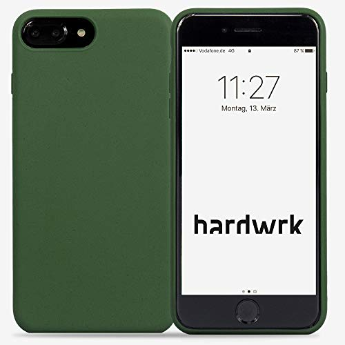 hardwrk Premium Eco Case - kompatibel mit Apple iPhone 6/6S/7/8 Plus - grün - Nachhaltige, kompostierbare, biologisch abbaubare Schutzhülle Handyhülle Cover Hülle - Qi kabellos Laden