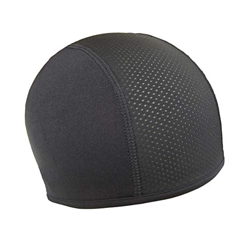 Capacete Liner Skull Cap Dry Sports Beanie Great Cycling Caps Performance Moisture Wicking para homens e mulheres preto