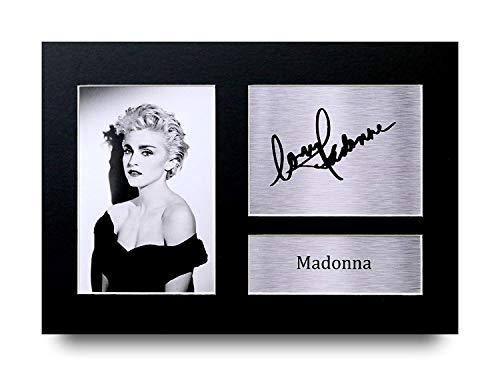 HWC Trading Madonna A4 Sin Marco Regalo De Visualización De Fotos De Impresión De Imagen Impresa Autógrafo Firmado por Aficionados A La Música
