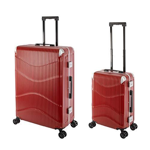 Travelhouse New York Wave T7102 - Trolley rigido in policarbonato, con telaio in alluminio, disponibile in diverse misure e colori, Scarlet Rot (Rosso) - New York Wave T7102
