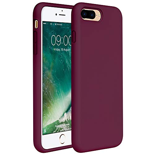 Miracase iPhone 8 Plus Case, iPhone 7 Plus Case, Shockproof Silicone Case with Full Body Protection, Anti-Scratch Microfiber Lining, Drop-protect Rubber phone Case for iPhone 7 Plus/iPhone 8 Plus 5.5""