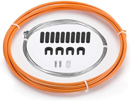 MMBOX Câble et Boîtier de Levier de Vitesses pour Road/Vélo de Montagne/VTT, Noir/Bleu/Vert/Orange/Rouge/Blanc (Orange)