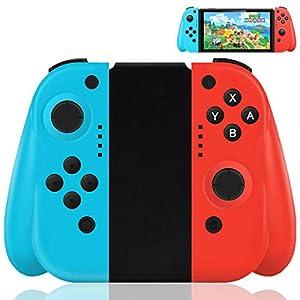 Maegoo Mandos Nintendo Switch Inalámbrico, Switch Joy con Controlador Gamepad Joysticks para Nintendo Switch, Bluetooth Switch Mando Joycon De Reemplazo con Doble Choque y Giroscopio de 6 Ejes