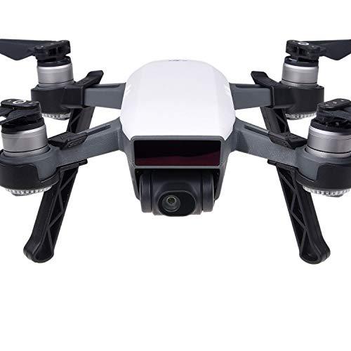 CAMKIX Kit de Tren de Aterrizaje Compatible con el dji Spark - Extra Altura y Seguridad - Le da a su Drone dji más Terreno y Mayor Distancia Entre la Cámara/Cardán y la Superficie