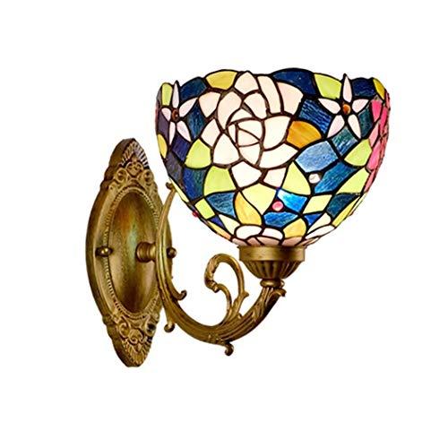 YONGYONGCHONG Lámpara de pared de protección del medio ambiente Pantalla de vidrio suaviza belleza luces de pared lámpara eleva aplique de categoría abundante 30 * 25 cm luz de patio