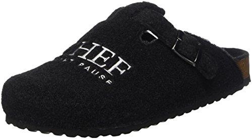 Supersoft Herren 511 078 Pantoffeln, Schwarz (Black), 46 EU