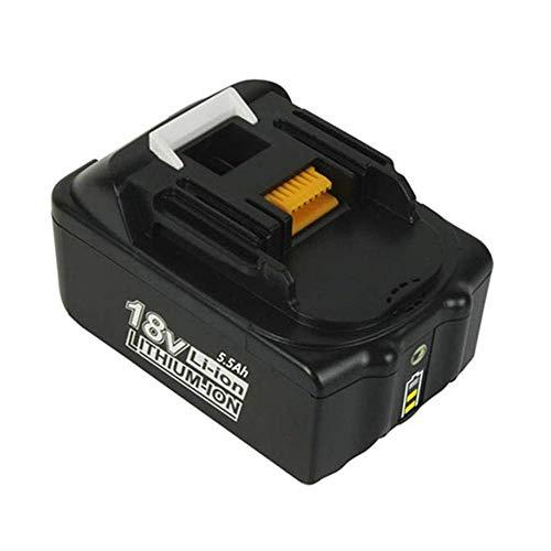 VANTTECH BL1860B 18V 5,5Ah Li-Ion Ersatzakku für Makita Akku BL1860B BL1860 BL1850B BL1850 BL1840B BL1840 BL1845 194205-3 194309-1 LXT-400 mit LED Indikator