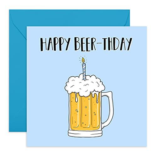 Central 23 – Biglietto Di Compleanno Divertente Per Lui – Biglietto Di Compleanno Per Papà, Divertente Biglietto Di Auguri Per Figlio – Gioco Di Birra – Fornito Con Adesivi Divertenti