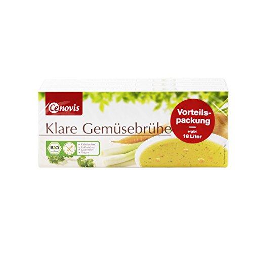 Cenovis - Klare Bio Gemüsebrühe im Würfel / Brühwürfel zum würzen, marinieren oder als Trinkbouillon - palmfettfrei, laktosefrei, glutenfrei und vegan - Vorteilspackung 3 x 12 Würfel - 378 g