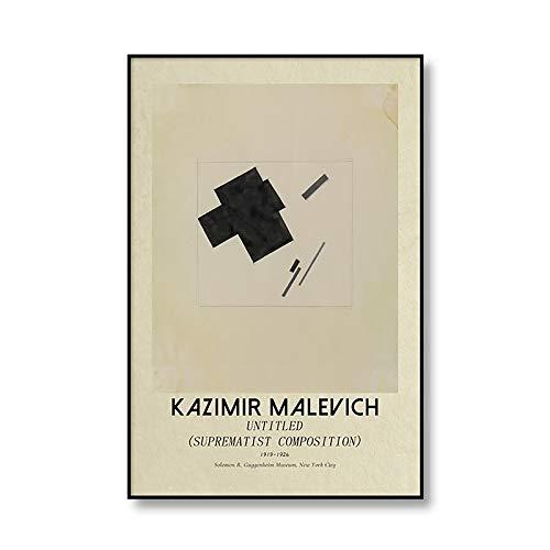 Famoso Kazimir Malevich geométrico abstracto cartel impresión lienzo Retro muebles para el hogar lienzo sin marco pintura A1 60x80cm