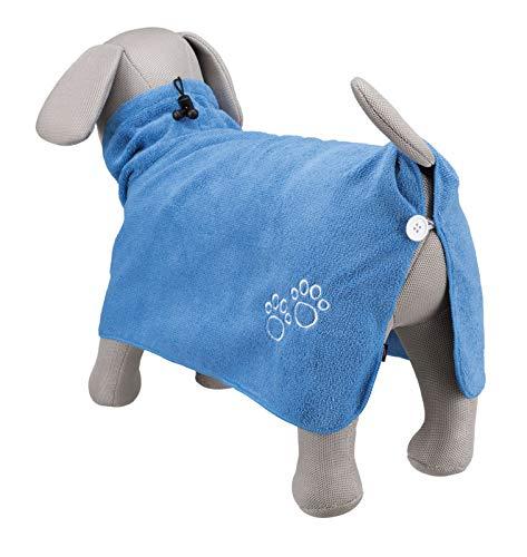 Trixie Bademantel/Hunde, Gr. L, Mikrofaser, 60 cm, blau - 6