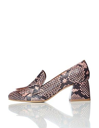 find. Schuhe Damen mit Schlangenleder-Optik und Tasseln, Mehrfarbig (Female Blue), 37 EU