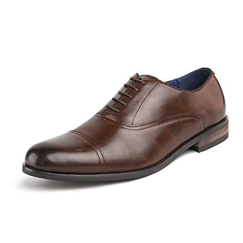 Bruno Marc Herren Florence_6 Braun Klassische Formelle Schnürkleid Oxfords Schuhe Größe 43 EU