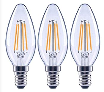 EcoSmart 60-Watt Equivalent B11 Dimmable Clear Filament Vintage Style LED Light Bulb Soft White  3-Pack
