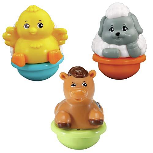 VTech - ZoomiZooz - Tuimeldiertjes - Trio Pack - Kuiken, Schaap & Paard - Educatief Babyspeelgoed - Stevig en duurzaam design - Leeftijd: 1 - 5 jaar