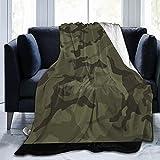 Kuscheldecke,Flanell Flauschig Überwurf Mikrofaser Tagesdecke Camouflage-Patch Fleecedecke ,Weich Sofadecke Für Bett Sofa Schlafzimmer Büro 150x125cm