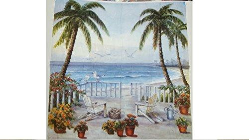 Tovagliolo in carta di riso 50×50 cm 14g Decoupage DFT175 Paesaggio marino