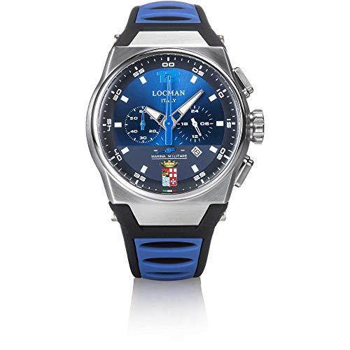 orologio solo tempo uomo Locman Marina Militare trendy cod. 0555A02S-00BLMMSB
