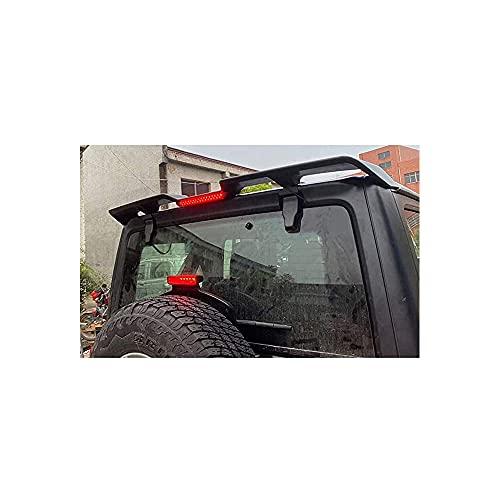 YQTYGB Coche Tronco Alerón Trasero, para Jeep Wrangler Lantsun JL1195 Tail JL & J367 Tail JK 2018+ ABS Fibra De Carbon Car Rear Trunk Techo Spoiler Lip Wing Accesorios De Estilo De Coche
