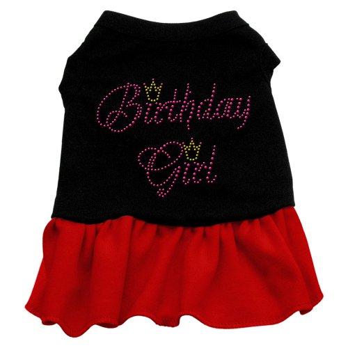 Mirage Verjaardag Meisje Strass Huisdier Jurk, X-Large, Zwart/Rood