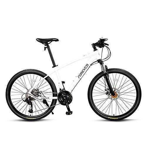JKCKHA Bicicleta De Montaña para Jóvenes/Adultos, Cuadro De Aleación De Aluminio, 27 Velocidades, Ruedas De 26 Pulgadas, para Una Variedad De Ocasiones, Blanco