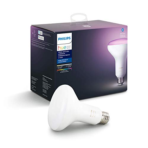 Philips Hue 548503 Smart Light BR30 Bulb, Single Pack, White and Color Ambiance