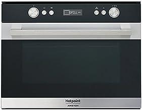 Hotpoint MS 767 IX HA Integrado - Microondas (Integrado, Microondas combinado, 34 L, 1000 W, Botones, Giratorio, Negro, Acero inoxidable)