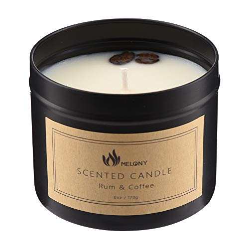 MELONY Candles- Natural Soy Candle for Home Scented- Rum &