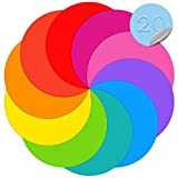 Dry Erase Dots Circles Colorful Circles Whiteboard Marker Removable Vinyl Dot Stickers for School Classroom Teachers Students Table & Desk, 10 Colors 11.02 Inches (20 Pack)