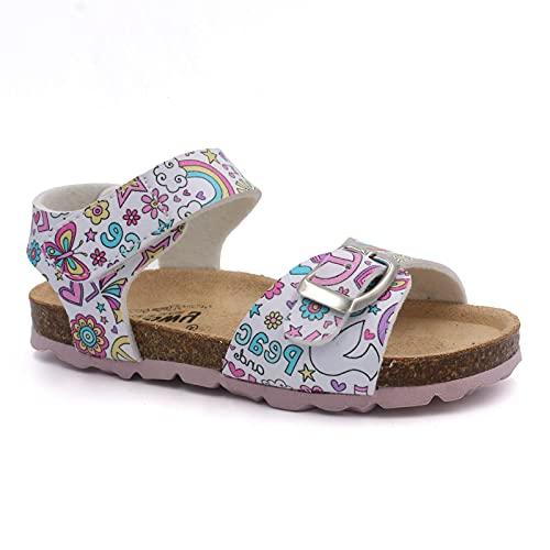 Billowy - Sandalen für Mädchen - A-7041C23, grau - Rosa - Größe: 32 EU