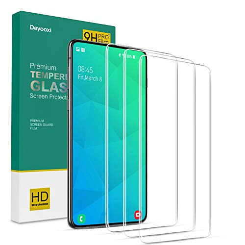 Deyooxi 3 Pièces Verre Trempé pour Samsung Galaxy S10E,Film Protection écran avec Kit Installation Offert pour Samsung Galaxy S10E,Protection Ecran Film Protecteur Vitre,9H Dureté,Anti Rayures