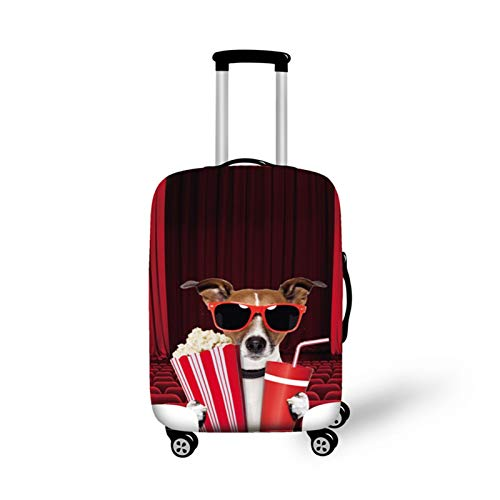 DATUI Dog Elasticity Print Trolley Case Protective Cover Travel Luggage Protector Suitcase Cover Washable Dust Cover (Size : M)