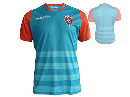 Macron Miami FC Fußball Jersey Spieler Fußball Fan Trikot blaugrün Shirt NASL, Größe:L