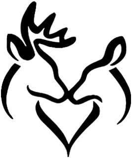 Pack of 3 Buck and Doe Kissing Stencils, 16x20, 11x14 and 8x10 Made from 4 Ply Matboard