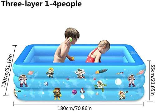 HLJ Infantil Hinchable Piscinas Piscina Plegable Espesado por Encima del Suelo Piscina Adultos bebés de Gran tamaño de la Familia Piscina for niños (Color : 180cm 3 Layer)