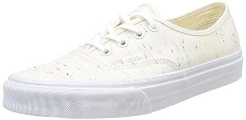 Vans UA Authentic, Zapatillas para Mujer, Hueso Speckle Jersey Cream True White, 35 EU